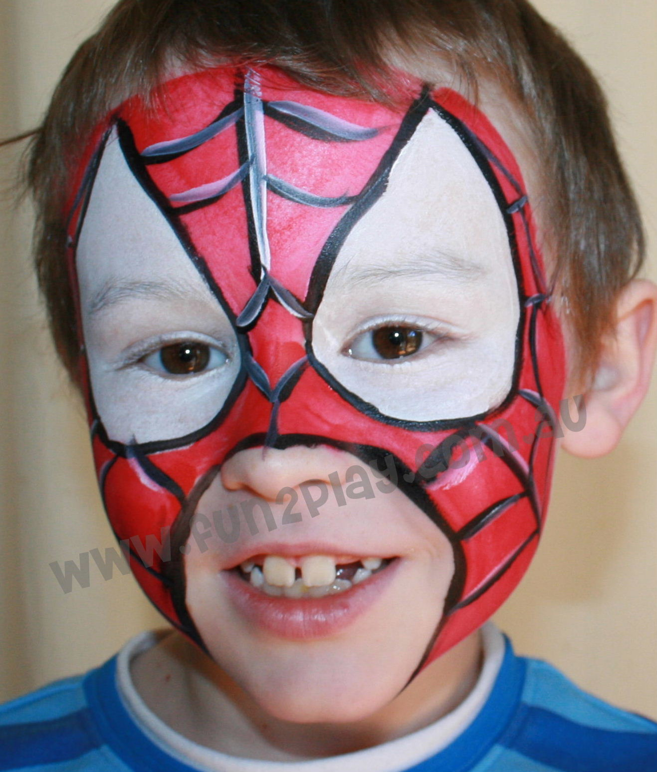 Gallery For gt Kids Face Painting Spiderman